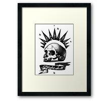 Misfit Skull White Framed Print