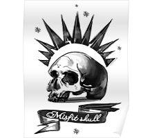 Misfit Skull White Poster