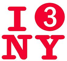 I love the number 3 subway New York City by hookink