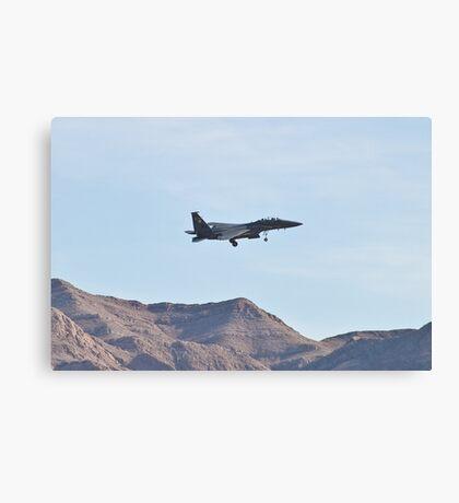 F-15 Strike Eagle against the mountains Canvas Print