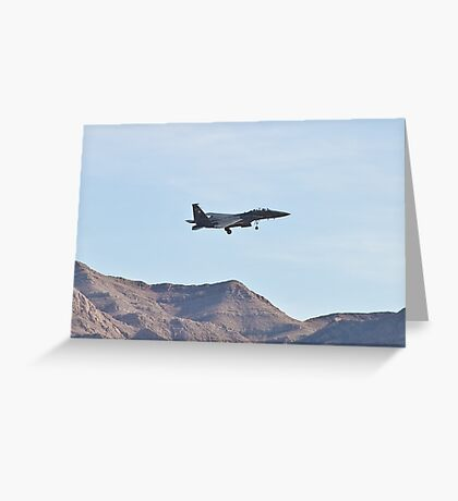 F-15 Strike Eagle against the mountains Greeting Card