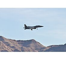 F-15 Strike Eagle against the mountains Photographic Print