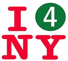 I love the number 4 subway New York City by hookink