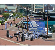 The Navy Band Performing - Baltimore - Harborside Photographic Print