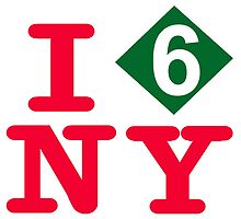 I love the number 6 express subway New York City by hookink