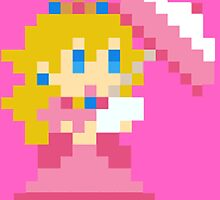 8 bit princess peach by thesocialbomber