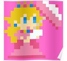 8 bit princess peach Poster