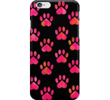 Pink Paw Pattern iPhone Case/Skin