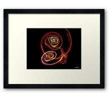 Even Then 2 Yellow Red Framed Print