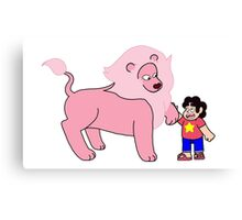 Steven and his Lion Canvas Print