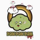 Kawaii Zombie Cloud Shirt: Nom Nom Nom by BeataViscera