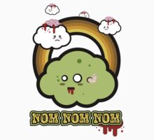 Kawaii Zombie Cloud Shirt: Nom Nom Nom by BeataViscera