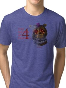 Five Nights at Freddy's 4 - Nightmare Fred Bear Tri-blend T-Shirt