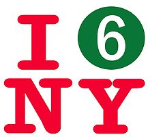 I love the number 6 subway New York City by hookink