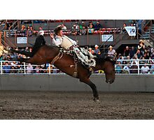 Rodeo State Finals Bareback Riding Photographic Print