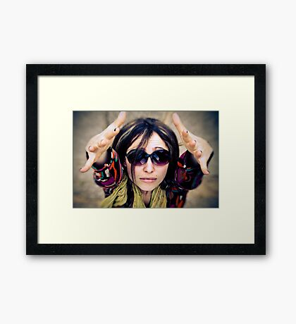 high vibes Framed Print