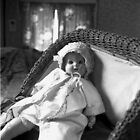 Doll in Antique Buggy by Barbara Wyeth