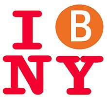 I love the  B line subway New York City by hookink