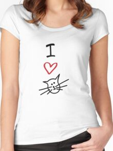 I Love Cats Women's Fitted Scoop T-Shirt