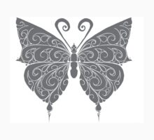 Black and white butterfly One Piece - Long Sleeve