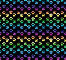 Rainbow Paw Prints by shaneisadragon