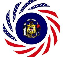 Wisconsin Murican Patriot Flag Series Photographic Print