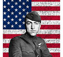 Eddie Rickenbacker And The American Flag Photographic Print