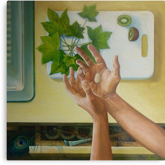 Nest, oil on canvas, 2006. by fiona vermeeren