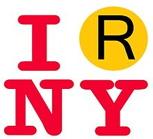 I love the R line subway New York City by hookink
