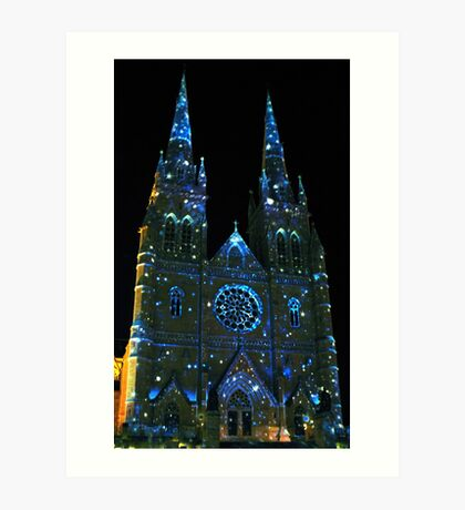 Starry Night at St Mary's Cathedral Art Print