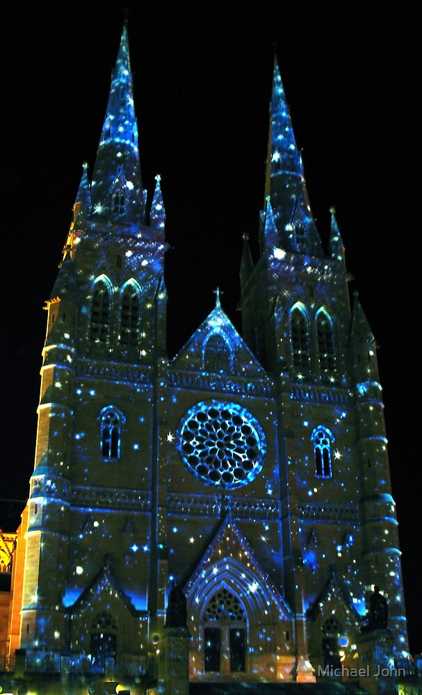 Starry Night at St Mary's Cathedral by Michael John
