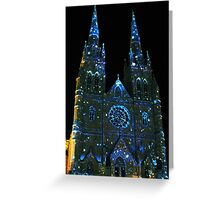 Starry Night at St Mary's Cathedral Greeting Card