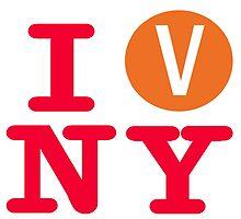 I love the V line subway New York City by hookink
