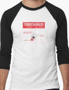 How Turbochargers work: by Jeremy Clarkson (red version) Men's Baseball ¾ T-Shirt