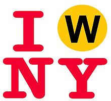 I love the W line subway New York City by hookink