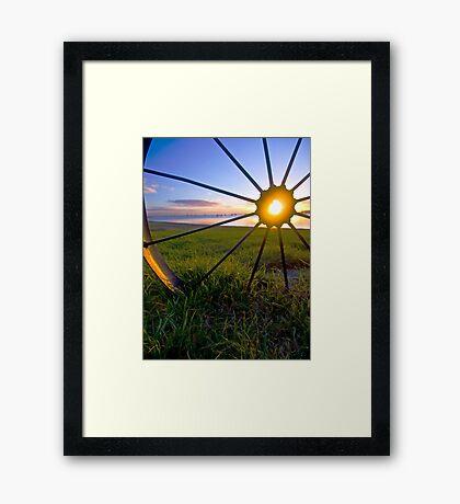 Wheel of Fire Geelong waterfront Framed Print