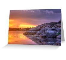 Sunset vs Rock Greeting Card