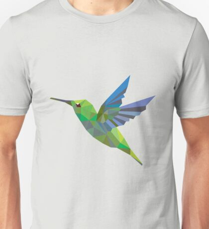 Humming bird lowpoly Unisex T-Shirt