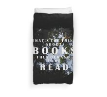 The Thing About Books Duvet Cover