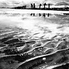 Lines in the sand (beach near geelong) by Andrew (ark photograhy art)
