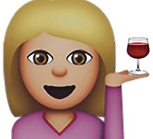 wine emoji by rmvan