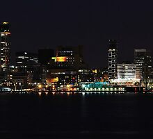 LIVERPOOL WATERFRONT AT NIGHT by shaun-e