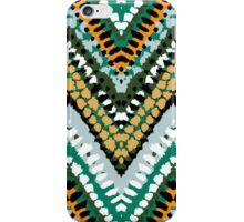 Jade green chevron print iPhone Case/Skin