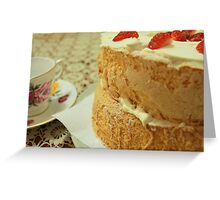 Waiting for Sponge Cake to Rise Greeting Card