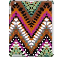 Bohemian print with chevron pattern in vintage colors iPad Case/Skin
