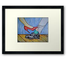 Playing Footsie Framed Print