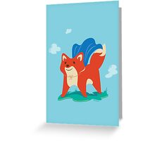 Fox with Cape - No Text Greeting Card