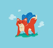 Fox with Cape - No Text by VorpalVector