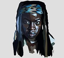 Geometric Michonne by Valerie Canizales
