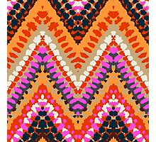Bohemian print with chevron pattern in bright colors Photographic Print